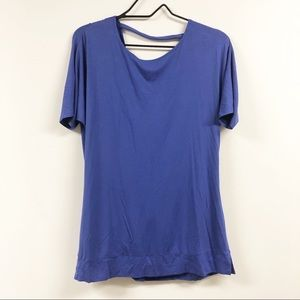 Soma Crossover Draping Top Blue